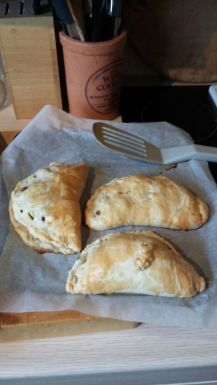 Three of the cooked pasties